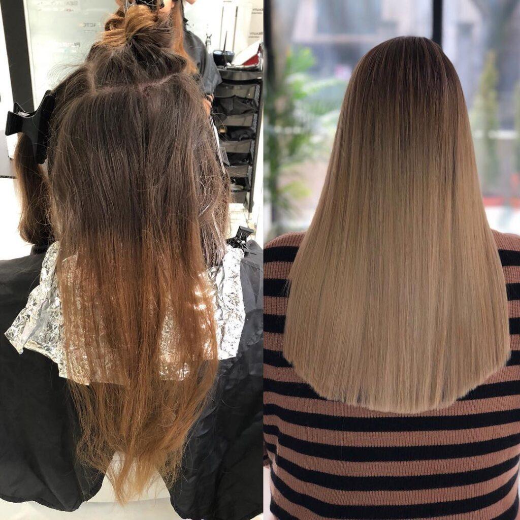 Balayage pre i posle Beauty Factor