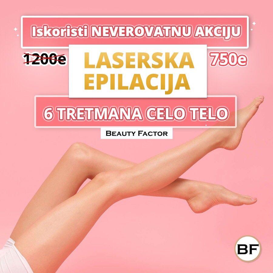laserska epilacija akcija beauty factor